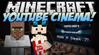 Minecraft | YOUTUBE CINEMA! (Web Displays Mod!) | Mod Showcase [1.6.4] thumbnail