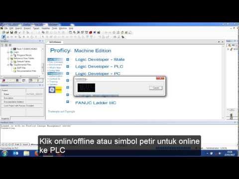 Belajar PLC : Tutorial Download Program PLC Ge Fanuc Menggunakan Proficy Machine Edition (PME)