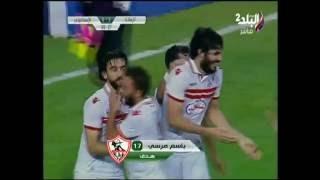 بالفيديو .. باسم مرسى يضيف الهدف الثالث للزمالك فى الإسماعيلي