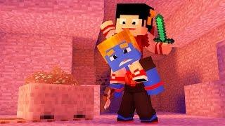 Minecraft: TENHO UM ESCRAVO - Batalha de Construir Dupla ‹ AM3NIC ›