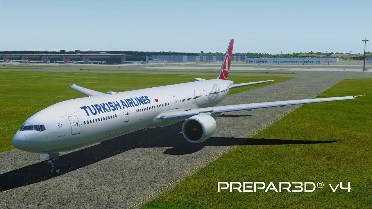 Prepar3D v4 5 | Istanbul to Houston | LTFM-KIAH | PMDG 777-300ER | P3D