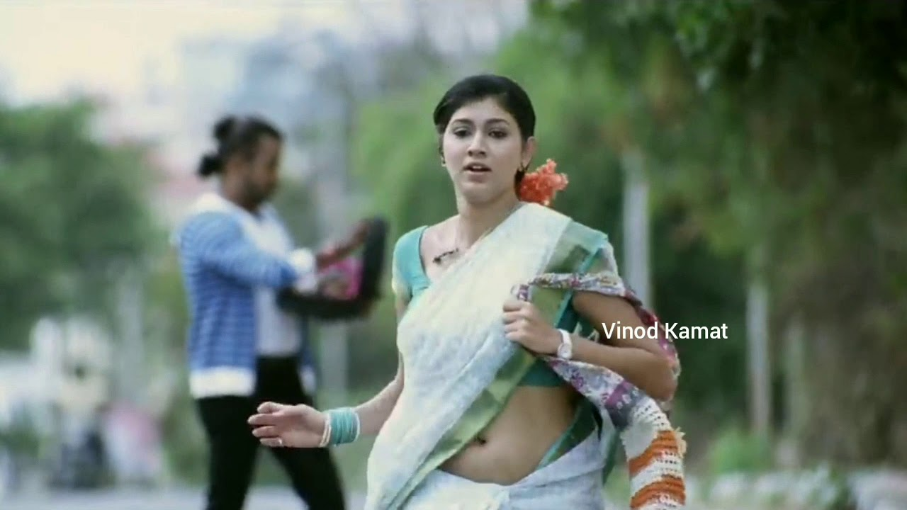 White Saree South Actress Hot Navel Slip In Saree Youtube