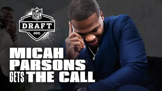 "2021 NFL Draft | Micah Parsons Gets ""The Call"" From the Dallas Cowboys"