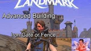 Everquest Next Landmark Building Iron Gate & Fence
