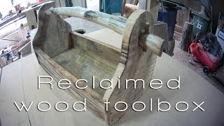 Reclaimed wood toolbox