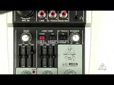302USB Small Format Mixer & USB Audio Interface