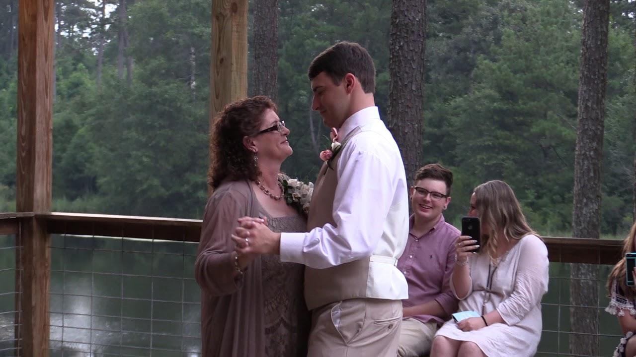 Mother/Son dance at the wedding of Brandon & Alexandra Dykes