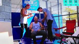 Bradlee dyeing Elton Castee hair