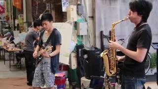 WEST SIDE MIXER 2015 8.23 奉還町商店街での路上ライブ.