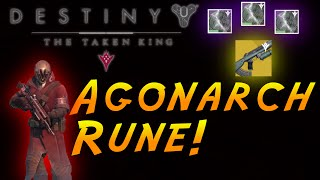 Destiny How to open the Agonarch Rune Chest (Charged Agonarch Rune) ''Calcified Fragment 36''
