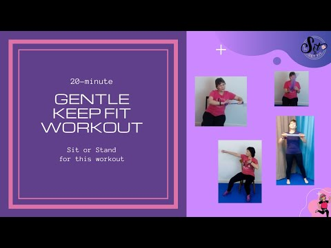 Chair Fitness Workout with standing options