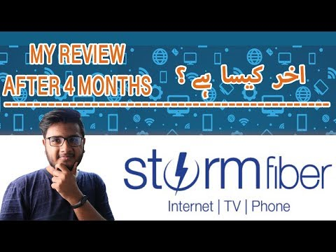My 4 Months Experience With  Storm Fiber!