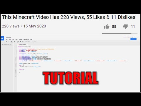 Download How To Automatically Display Views (14114) & Likes (1125) In Video Title!