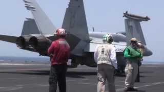 F/A-18 LAUNCHES FOR ISIS STRIKE | mil-vids.com