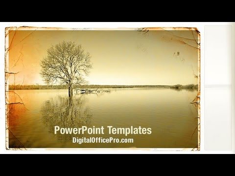Landscape Old Style PowerPoint Template Backgrounds ...