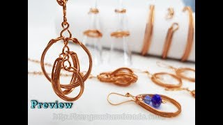 Preview the jewelry set use Basic Wire Weaving techniques 505