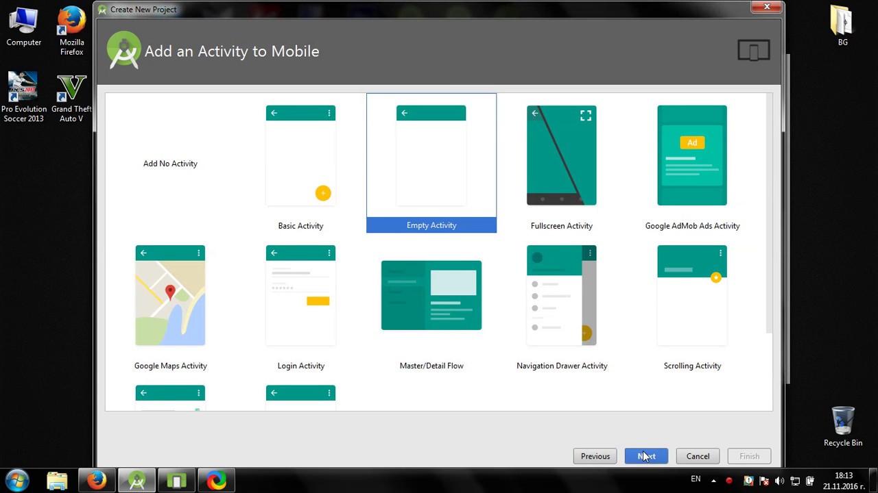 android studio create app shortcut