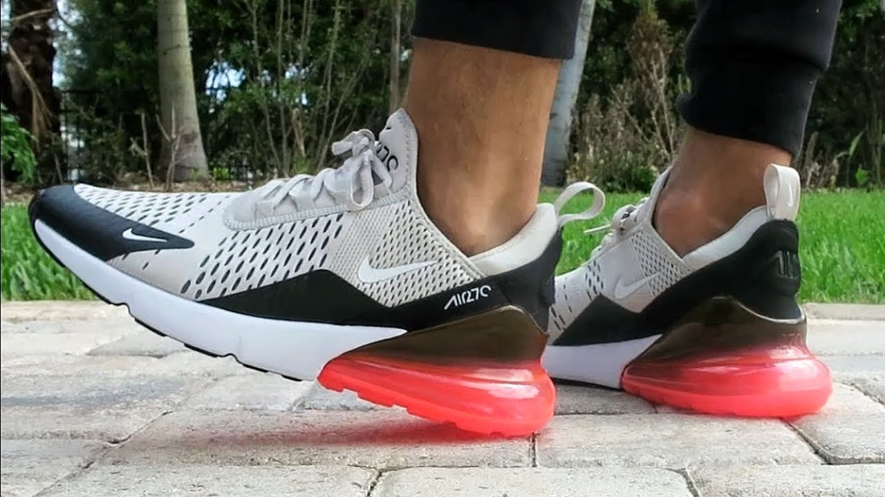 Nike Air Max 270 Light Bone Hot Punch On Feet Youtube
