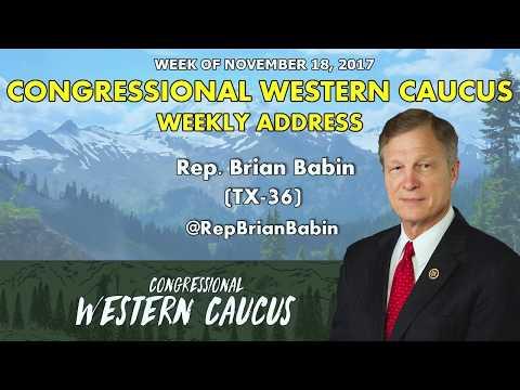 Western Caucus Weekly Address - Week of November 18, 2017