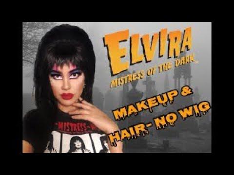 Elvira Hair Makeup Tutorial Youtube