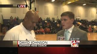 "Brent Pearson KOMU-TV 8 ""Jefferson City vs. Hickman Live Interview with bot"