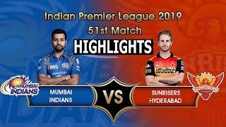 "IPL 2019 Full Highlights ""MI vs SRH"" Full Match Highlights Today"