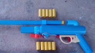 Powerful mini pvc shotgun : How to make mini pvc shotgun using steel ball bullet.