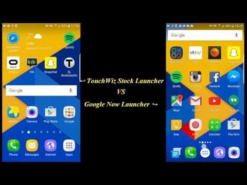 Samsung TouchWiz Stock Launcher vs Google Now Launcher (Galaxy S7 Edge)
