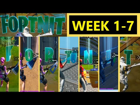Collect FORTNITE Letters Hidden In Loading Screens | Week 1 To Week 7 All Fortnite Letters Chapter 2