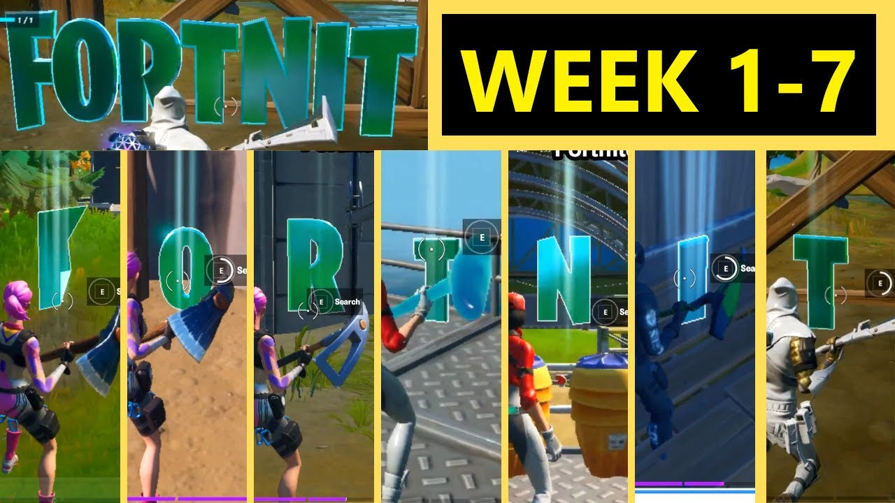 Collect Fortnite Letters Hidden In Loading Screens Week 1 To Week 7 All Fortnite Letters Chapter 2