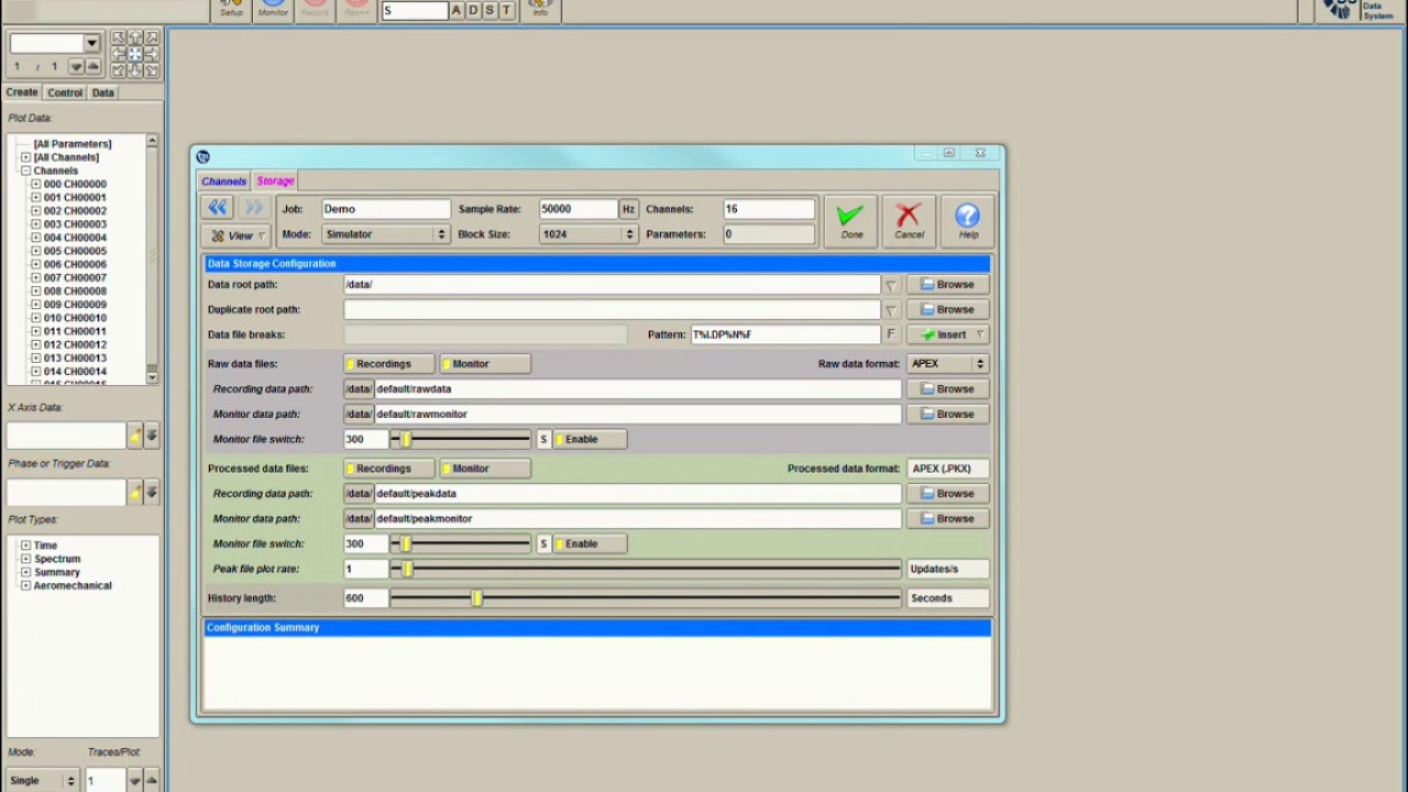 Data Acquisition Set : Ds data acquisition software configure settings youtube