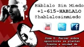 #Cuba: Jose D. Ferrer sobre opositores se plantan frente a unidad de policía para reclamar...