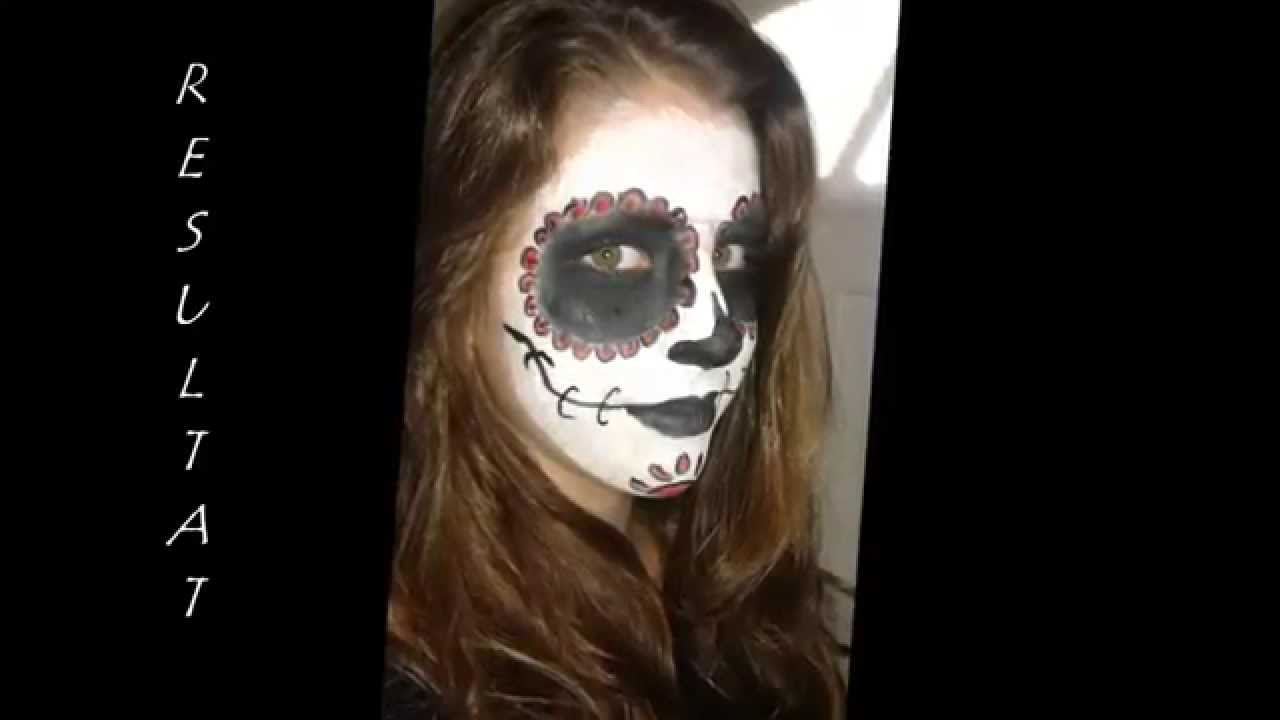 maquillage halloween squelette mexicain youtube. Black Bedroom Furniture Sets. Home Design Ideas