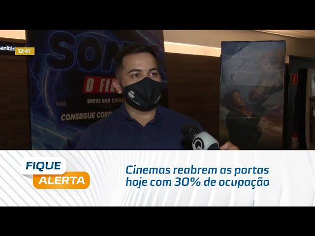 Cinemas reabrem as portas hoje com 30% de ocupação e obedecem protocolo de segurança