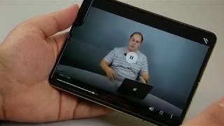 ОБЗОР   Samsung Galaxy Fold - работа с основным экраном