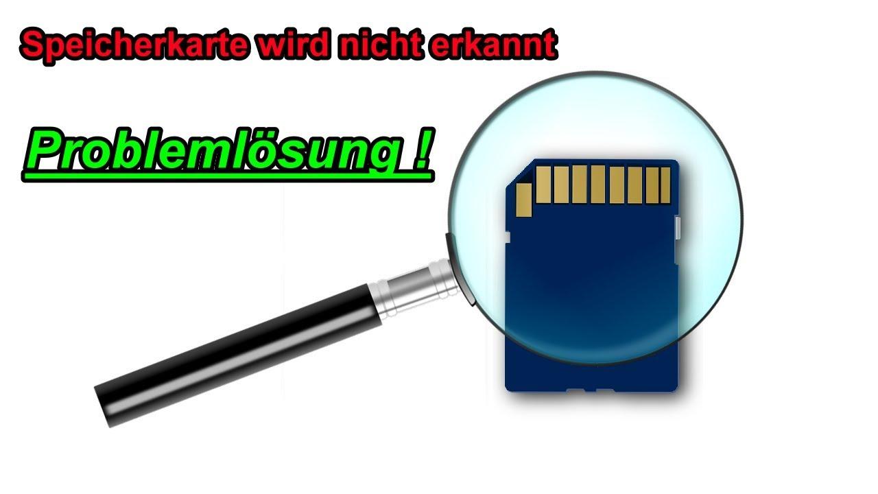 Speicherkarte Wird Nicht Erkannt Sd Karte Sd Micro Card Nicht Angezeigt Externes Gerät Laufwerk