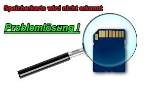 Speicherkarte wird nicht erkannt – SD Karte / SD Micro Card nicht angezeigt Externes Gerät Laufwerk
