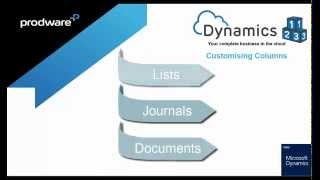 Dynamics-123 -How to- Column Personalisation