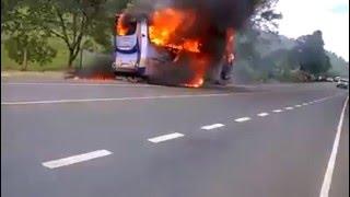 Kisumu Bound Bus With Passengers Burns Down in Kericho
