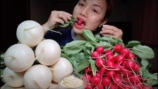 🇯🇵Lần Đầu Ăn Sống Củ Cải Đỏ Cherry & Củ Cải Trắng Tròn #179
