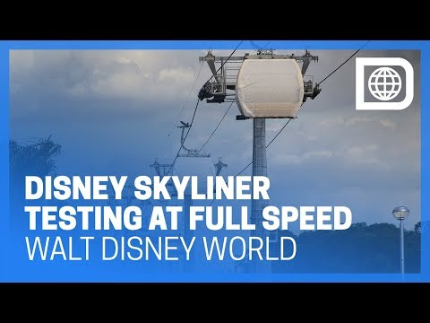 Disney Skyliner Gondolas Testing at Full Speed