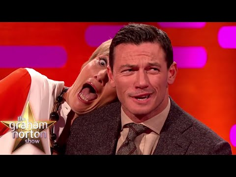 Luke Evans and Emma Thompson's Red Carpet Poses - The Graham Norton Show