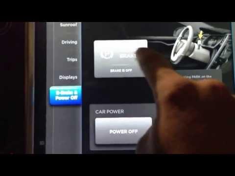 Tesla parking brake lockout