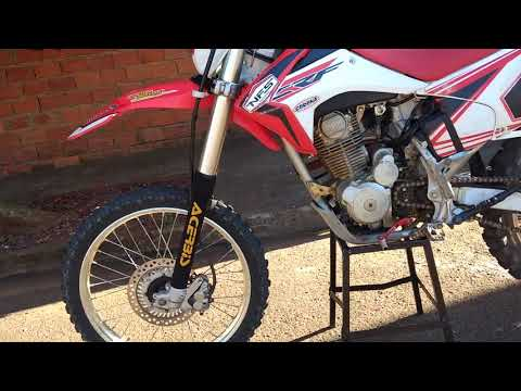 Crf230 com suspensão invertida # Carlos Couto Moto Racing # mecanica de motos #