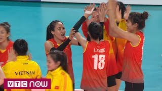 Bóng chuyền nữ ASIAD 2018: Thắng Indonesia, Việt Nam đạt hạng 5 | VTC Now