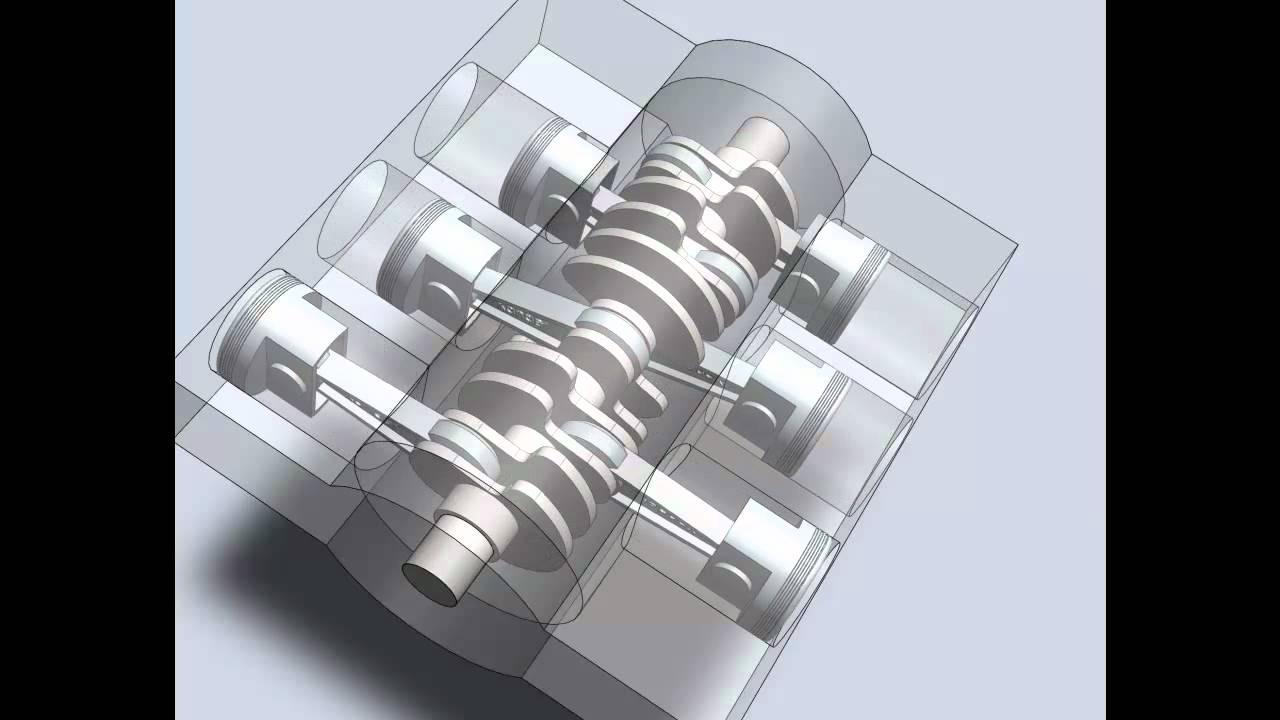 Boxer(Flat) 6 cylinder engine  YouTube