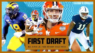 Mel Kiper and Todd McShay go head to head in a 22-man mega draft! | First Draft