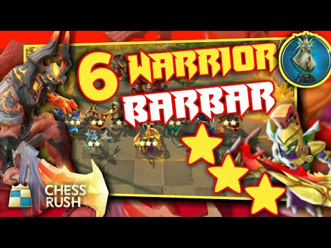 Combo BARBAR!! 6 Warrior+Warlock Strategy dan Gameplay   Chess Rush Indonesia