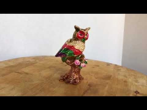 Good Fortune Metal Owl - Extremely Good Luck - Jewelry Box Protects Your Valuables