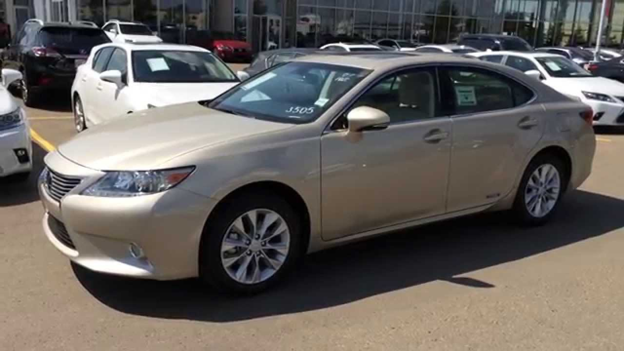 new gold on parchment 2014 lexus es 300h hybrid. Black Bedroom Furniture Sets. Home Design Ideas
